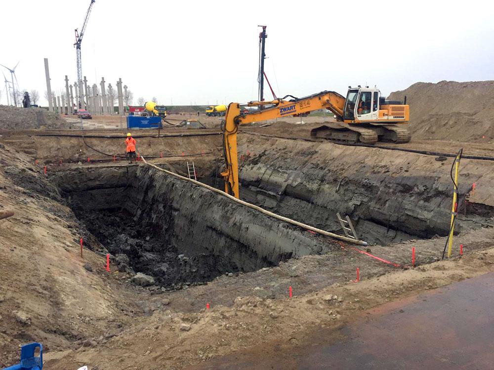 Werkzaamheden op terrein Multi Traffic Point Hoorn
